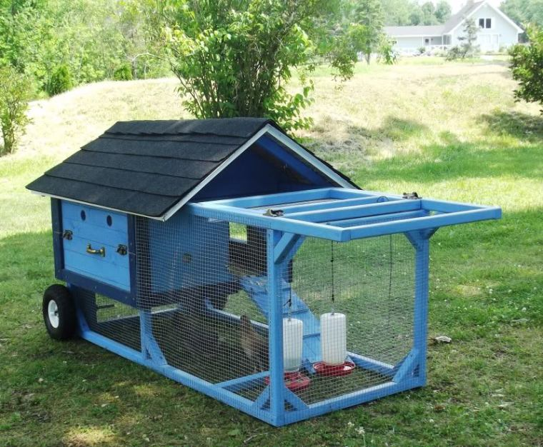 Bkeees Chicken Tractor from http://www.backyardchickens.com/a/bkeees-chicken-tractor