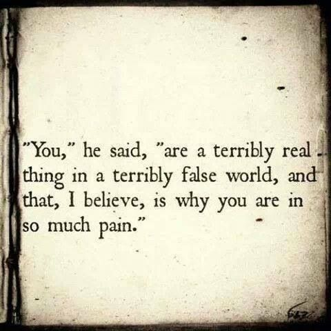 Yes, I am real, painfully so.