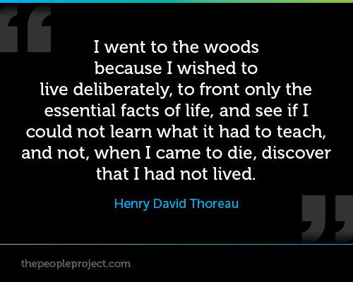 Thoreau I went into