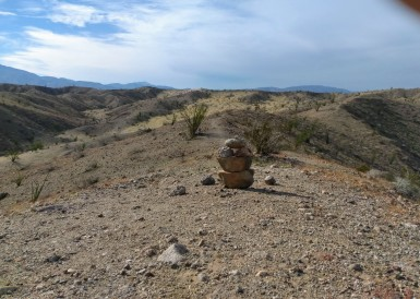 Pinnacle of my recent 25 story hike at Anza Borrego